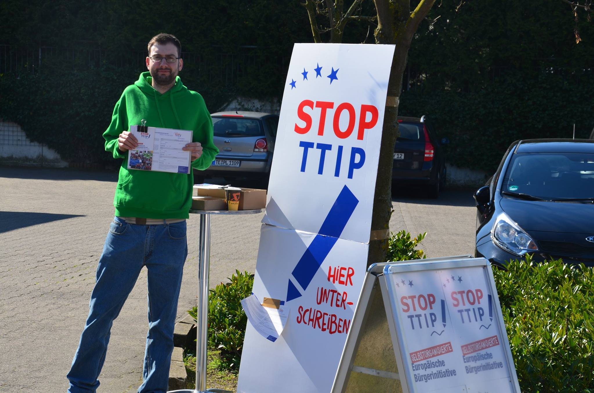 Saerbecker Grüne aktiv gegen TTIP
