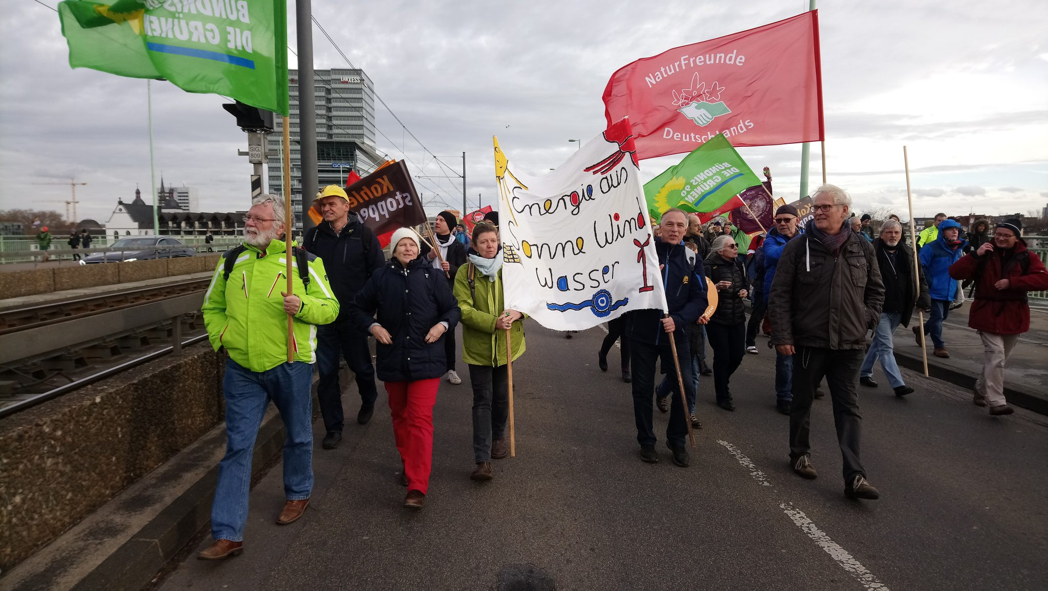 Grüne demonstrieren in Köln