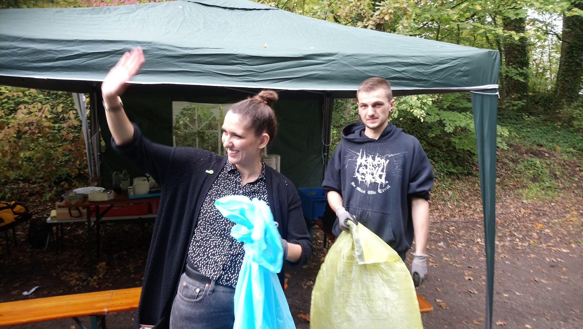 Müll-Sammel-Aktion der Grünen Jugend