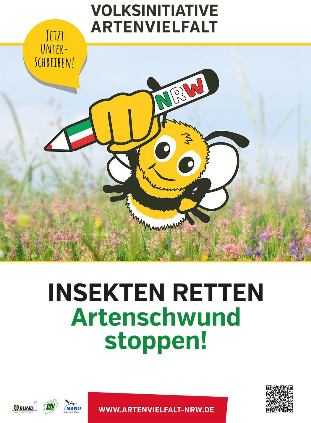 Unterschriftenaktion der Volksinitiative Artenvielfalt